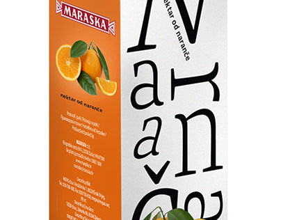 Packaging design for Maraska juices