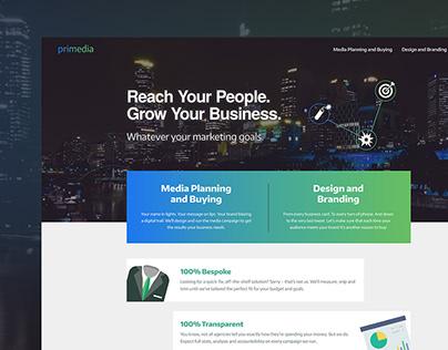 Primedia Marketing - Web Design