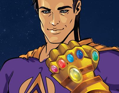 Super Herowith Gauntlet backdrop