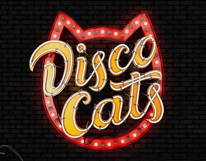 Disco Cats — logo for a local disco crew