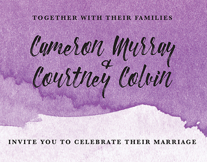 Invitation Suite and Signage: Courtney and Cameron