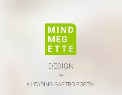 Design for MINDMEGETTE gastro portal