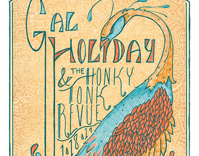 Gal Holiday Gig Poster 2019