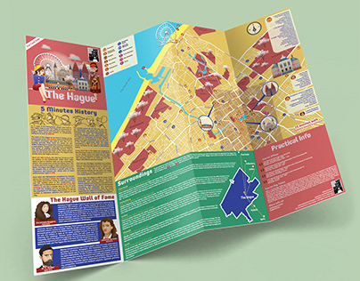 Hit the Road Illustrated Map Series - THE HAGUE