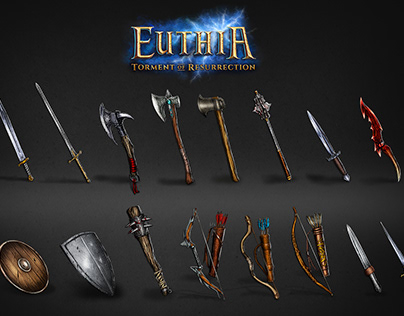 Euthia: Torment of Resurrection-Weapons concept art