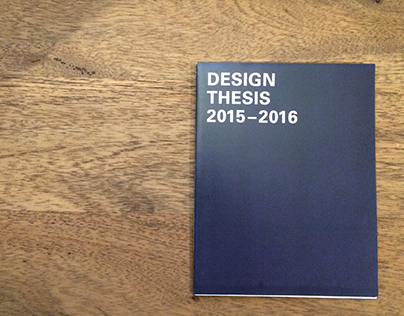 Design Thesis Brochure