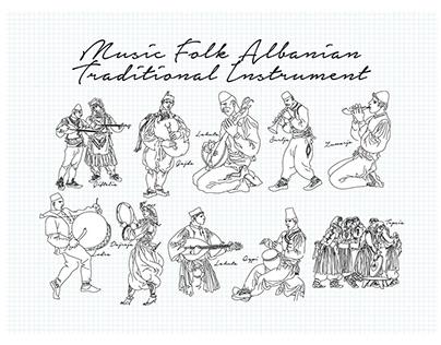 Music folk Albanian traditional instrument