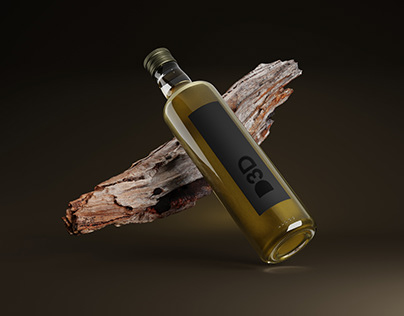 Botella aceite mockup