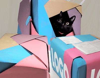 Embalagem de Box de Assinatura Mensal para gatos