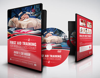 First Aid Training DVD Cover and Label Template