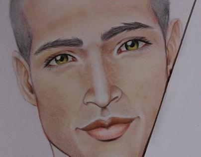 Dibujo de rostros.