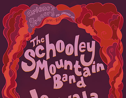The Schooley Mountain Band + Jouwala Collective Poster