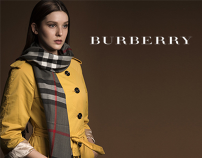 Mock Up Fashion Advertisement for Burberry