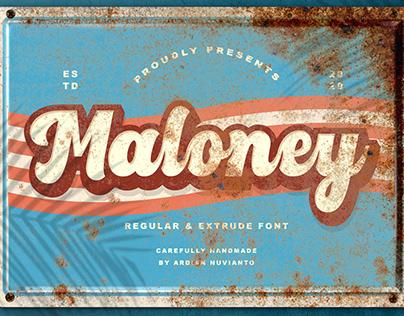 Maloney Regular & Extrude Font