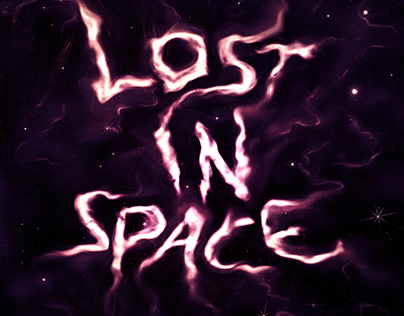Lost in Space Typographic Illustration