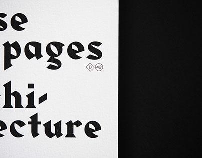 Mise en page & architecture.