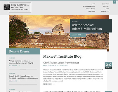 BYU Maxwell Institute // Blog and Website