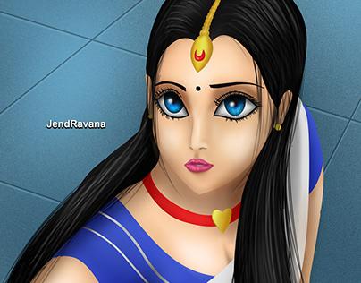 Indian Sailormoon X Sailormoon Redraw Challenge