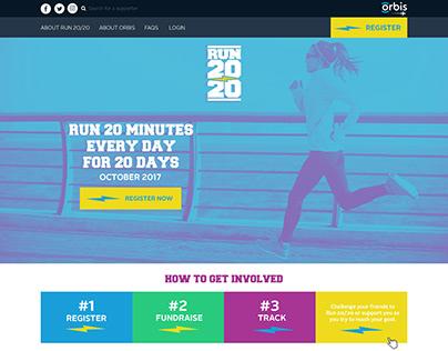 Orbis Run 20/20 Virtual Event Designs