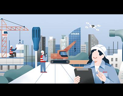 Illustration series for Hyundai Development Company