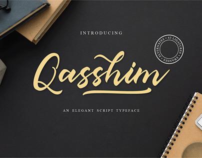 Qasshim Script Typeface