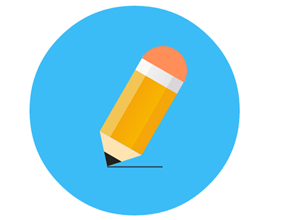 Pencil animated icon see in codepen: http://codepen.io/