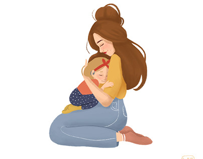 Character design for children's book 'mum'
