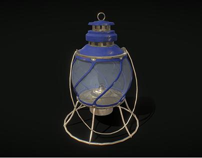 Old Brass Hand Lantern