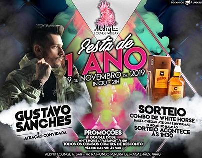 Festa de 1 ANO: Aldiyk Lounge & Bar
