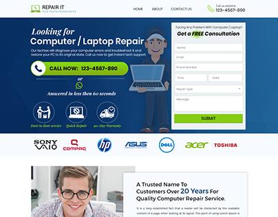Computer & Laptop repair Landing page design