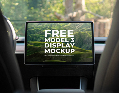 10 FREE Model 3 Display Mockups