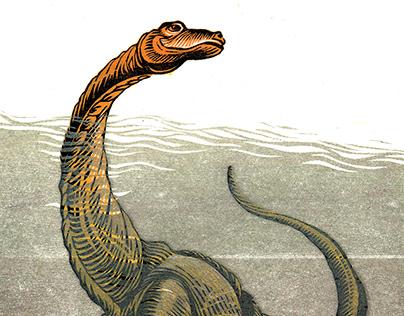 Dinosaur in water