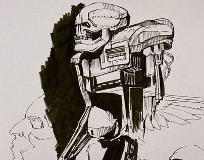 Doodles... Robots...