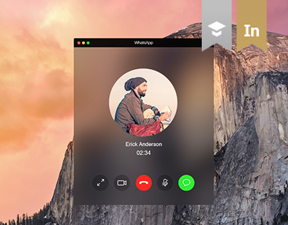 WhatsApp for OS X Yosemite - App design concept
