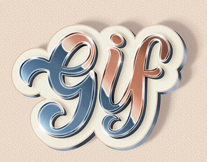 Lettering: GIF