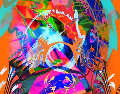 Festive Abstraction (Artwork for Sale)