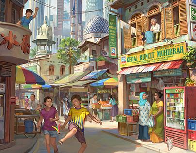 Malaysia Merdeka illustration