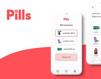 Pills app - UI / UX Design