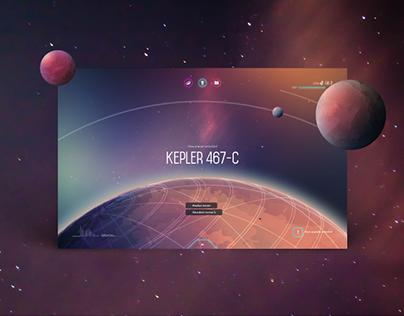 Orbit Space Game UI