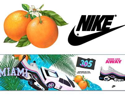 Orange Illustration for Nike Ad Campaign