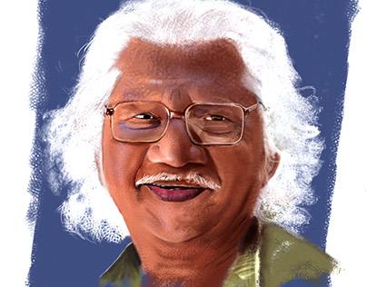 Adoor Gopalakrishnan Digital Painting