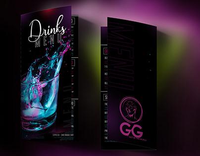 Neon Drinks Menu Design