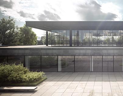 Die Neue National Galerie by Mies / CGI recreation