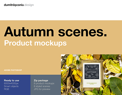 Autumn natural scenes. Product Mockups