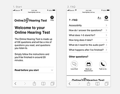 Australian Hearing - Online Hearing Test UX Design