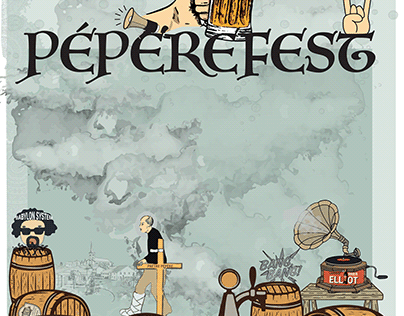 """Réalisation de supports """"Pépèrefest'"""""""