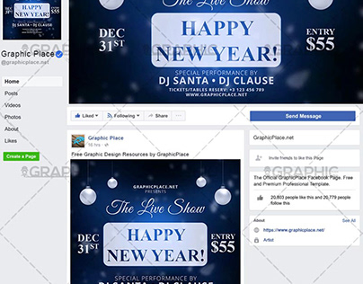 New Year Party – Animated Flyer PSD Template