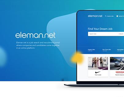 Eleman.net - Job Search Portal UI Design