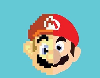 Super Mario themed Infographic: Raster vs Vector Image