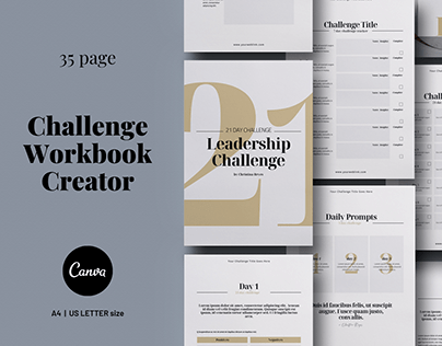 Challenge Workbook Creator Canva template